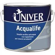 ACQUALIFE SMALTO VERNICE ALL'ACQUA UNIVER LT 2,50  BIANCO.