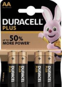 BATTERIA ALCALINA DURACELL PLUS POWER AA PZ. 4.
