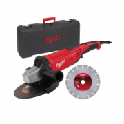Kit smerigliatrice 2200 W AG22-230 D-SET + valigetta + disco diamantato MILWAUKEE.