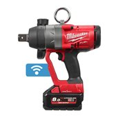 AVVITATORE AD IMPULSI ONE-KEY™ FUEL™ ATTACCO 1? F 18V  MILWAUKEE + 2 BATT. 8 AH M18 ONEFHIWF1